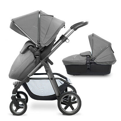Silver Cross Pioneer Silver On Graphite Chassis Reduced Pram & Pushchair
