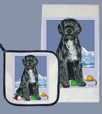Dish Towel & Pot Holder - Portuguese Water Dog DP577 IN STOCK