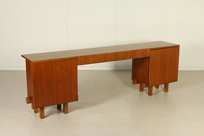 Teak Cabinet with Desk Position Vintage Manufactured in Italy 1950s-1960s