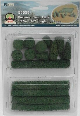 JTT Scenery Products - Boxwood Plants (Pack of 15) for O Gauge Model Rail