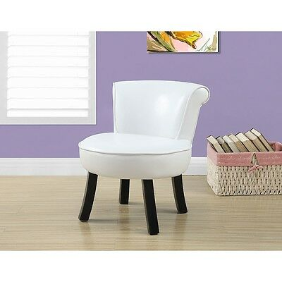 Monarch Juvenile Leather Look Chair - White