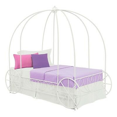 DHP - Twin Carriage Bed, White