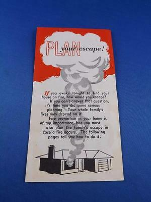 Plan Your Escape! Information Brochure Fire Safety Cia Co-Operators Insurance