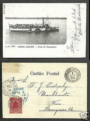 Porto Alegre Ship Party Festa de Navegantes Brazil stamp 1899
