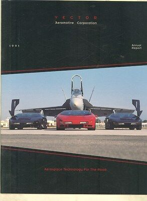 1990 Vector W8 & A-WX3 Twin Turbo Aeromotive Annual Report Brochure ww3022
