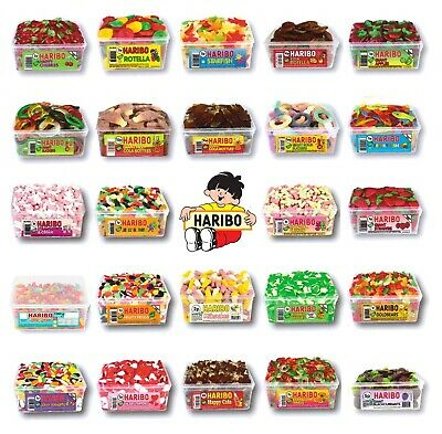 2 X Full Tubs Haribo Sweets Wholesale Discount Candy Box Party Favours Treat