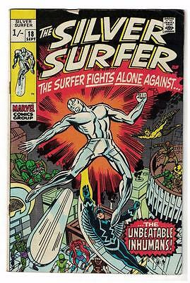 MARVEL Comics SILVER SURFER  Issue #18 Galactus Fantastic four FN- 1970