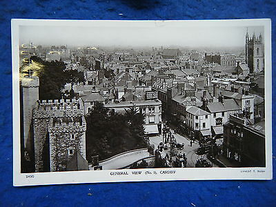Cardiff: General Elevated View - Scarce Real Photo Postcard!