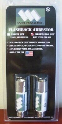 Weldmark Flashback Arrestor (Regulator Set) by Superior Products (Smith H753)