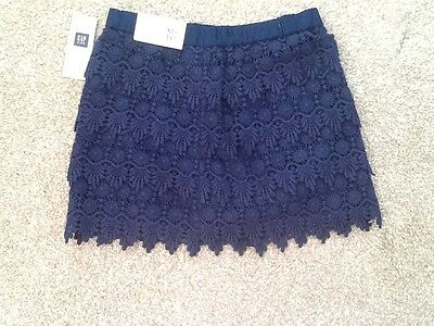 Gorgeous navy blue GAP girls 4 - 5 years lined lace skirt Xmas NWT RRP 26.99