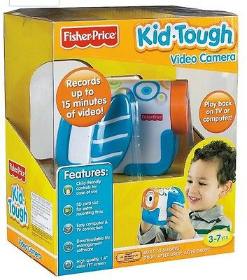 Fisher Price Kid Tough Video Camera Blue New