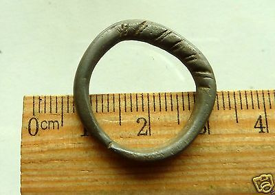 Twisted Wire Scandinavian Viking Bronze Ring (r415)