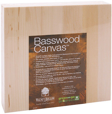 Basswood Canvas-8 Inch X 8 Inch 046308296202