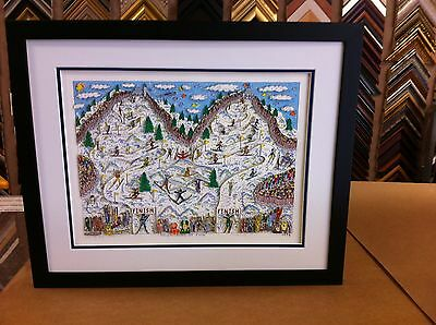 "James Rizzi 3-D Artwork "" Mountains of Fun "" Signed & Numbered Limited Edition"