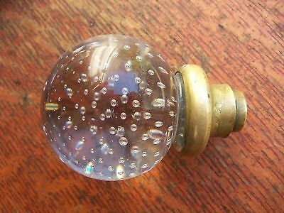 Antique Pairpoint Controlled Bubble Ball Glass Doorknob c1894 • CAD $171.48