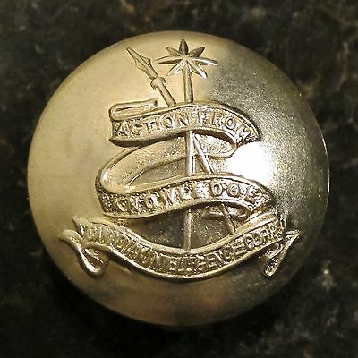 CANADIAN INTELLIGENCE CORPS - WHITE METAL BUTTON - LARGE SIZE - 1943 to 1968