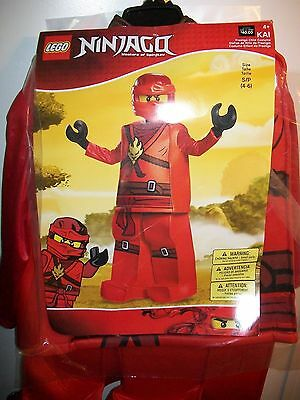 Lego Ninjago KAI Red Ninja Prestige Child Costume Dress-Up Small 4-6 Disguise