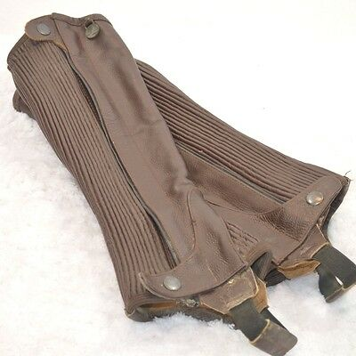 Used Ovation Leather Half Chaps  - Brown - Sz 12/14 #71944