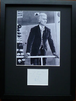 PETER CUSHING signed autograph PHOTO DISPLAY Doctor Who Dr Who