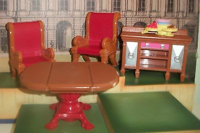 Fisher Price lot Loving Family Dollhouse Dinning Room LOT OF 5 DROP LEAF TABLE