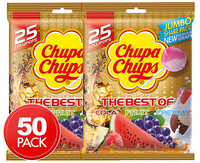 2 x The Best Of Chupa Chups Lollipops 25pk