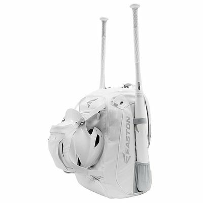 Easton Walk-Off White Out Bat Pack Baseball Player Backpack Bat Bag