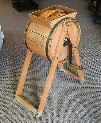 Antique Wooden Churn – Flyers Improved -  H. Holmes & Sons Grafton