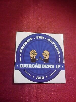Djurgardens If Football Club Ultras Sticker Stockholm Sweden 1312 New Backed Vgc