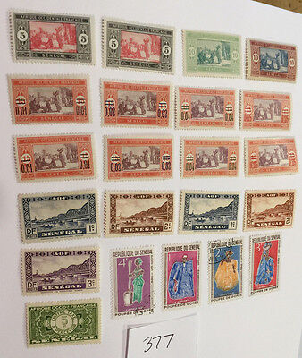 Senegal Stamps France Colony lot of 22 stamps 1922 - 1966 env377