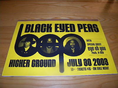July 30th 2003 The Black Eyed Peas at Higher Ground Vermont Bar Ad Poster