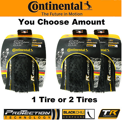 1 or 2PAK Continental Race King II 26x2.2 Fold ProTection TR Blk Chili Bike Tire