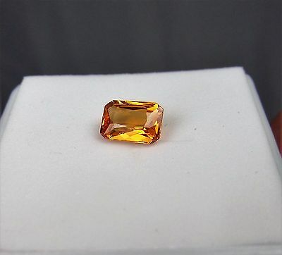 1.20cts GARNET SPESSARTITE MANDARIN ORANGE EMERALD  CUT TANZANIA 7mm by 5mm