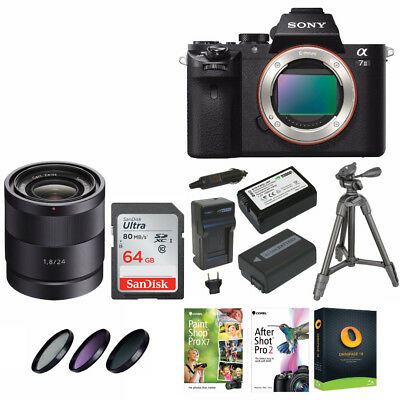 Sony Alpha a7II Interchangeable Digital Camera(Body) + 24mm f/1.8 ZA Lens Bundle