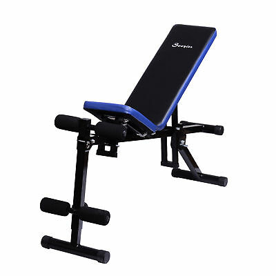 Soozier Adjustable Sit Up Weight Bench Fitness Workout Lifting Exercise Home Gym