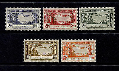 OPC 1940 Senegal Air Mail Set Sc#C12-C16 Mint Never Hinged