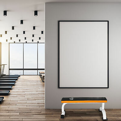 Soozier Utility Flat Board Bench Multipurpose Workout Barbell Bench Home Gym