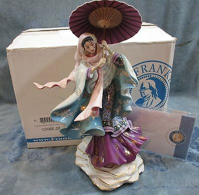 "Franklin Mint 12"" Chinese Legend ""Spirit Of Purity"" Figurine Holds Umbrella NEW"