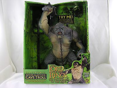 Lord Of The Rings Sound & Action Cave Troll Unopened