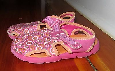 39619d7f5d35 Stride Rite SURF ZONE PINK floral CLOSED TOE waterproof SANDALS SIZE 9M