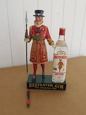 """Vintage Gin Advertising Beefeaters Gin Displaymasters figure 15"""" Beefeater man"""