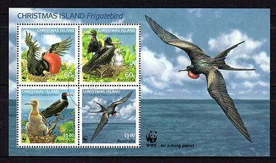 Christmas Island 2010 Frigate Bird Sheetlet 4 CTO