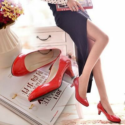 Woman Low Thin Heel Pumps Shoes Leather Autuwn Casual Party Office Work Shoes