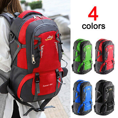 60L Waterproof Outdoor Climbing Travel Large Backpack Camping Rucksack Bag UK