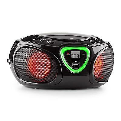 poste mobile bluetooth boombox auna roadie lecteur cd radio fm usb mp3 rose neuf eur 59 99. Black Bedroom Furniture Sets. Home Design Ideas