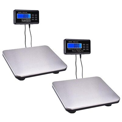 440lbs/660lbs Optional LCD AC Digital Floor Bench Scale Postal Platform Shipping