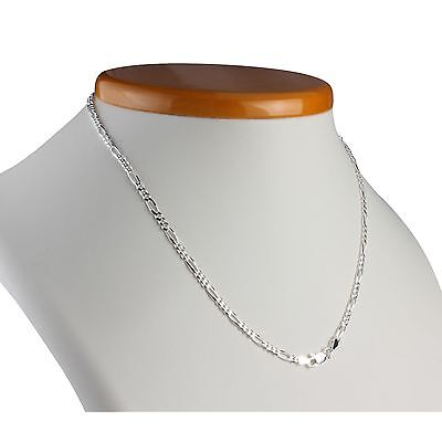 2.8Mm Figaro Chain Solid Sterling Silver Diamond Cut Chain