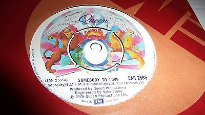 QUEEN    SOMEBODY TO LOVE c/w WHTE MAN    1976 EMI COMPANY SLEEVE