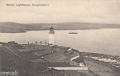 Postcard Campbeltown Argyll and Bute Scotland early view of Davaar Lighthouse