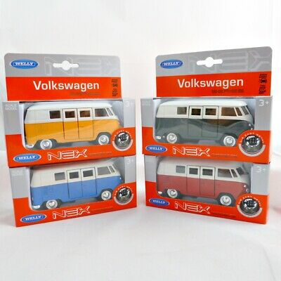 "WELLY VW T1 Bus (1962)  Modellauto 1:32 ca.11cm  in 4 Farben "" NEU """
