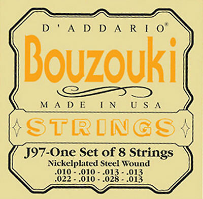 D'addario J97 Loop-End Nickel Greek Bouzouki Strings For Cfad Tuning
